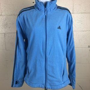 Adidas Women's Full Zip Jacket Size M Blue RH25